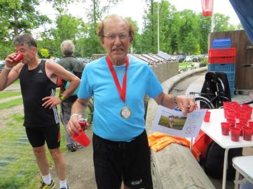 Hans Kleinekoort tijdens de Vrienden Bedankt Marathon 2014